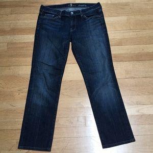 7 For All Mankind Dark Wash Straight Leg Jeans 31